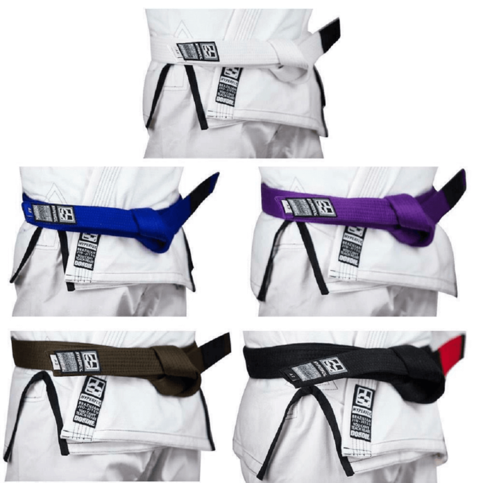 THE BJJ COLORED BELT SYSTEM