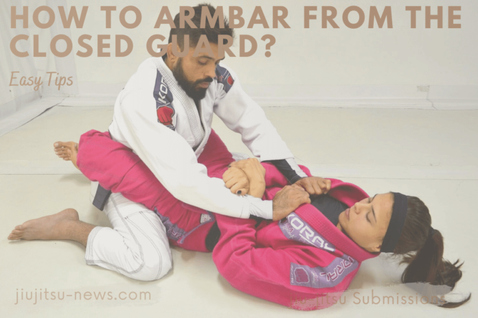 how to armbar from the closed guard