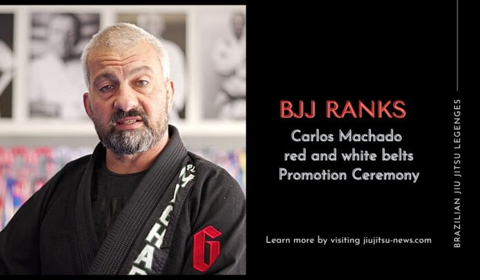 Carlos Machado red and white belts