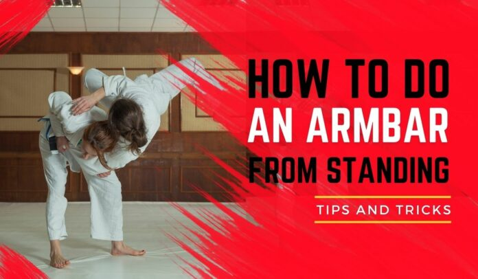 how to do an armbar from standing